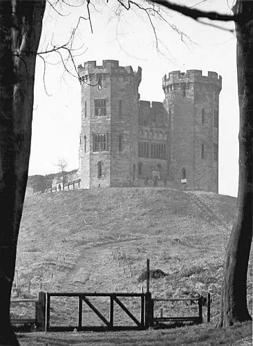 Stafford Castle, circa 1950 before the vandalism and collapse